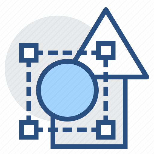 circle, edit, editable, editor, objects, shape, square icon