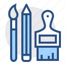 art, brush, draw, paint, pencil, tools, write icon