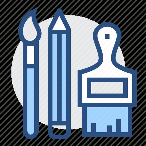 art, brush, draw, paint, pencil, tools, write icon