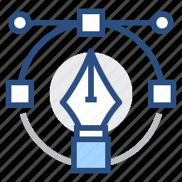 graphic, image, pen, tool, vector icon