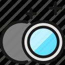 lens, circle