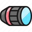 lens, horizontal