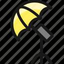 photography, equipment, light, umbrella