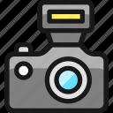 camera, flash