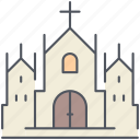 cathedral, catholic, christianity, church, gothic, religion, worship icon