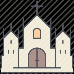 cathedral, catholic, christianity, church, gothic, religion, worship icon