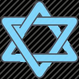 david, israel, jewish, kabbalah, star, worship icon