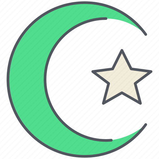allah, crescent, islam, mosque, muslim, ramadan, worship icon