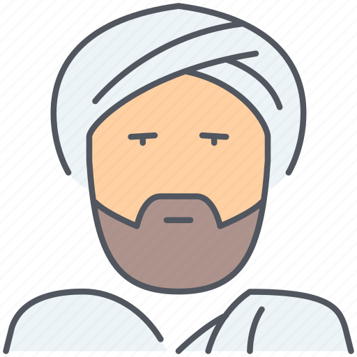 Muslim, sheik, arabic, islamic, mosque, religious, arab icon - Download on Iconfinder