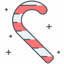 candy, candy cane, cane, christmas, decoration, new year, sweets icon