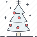 christmas tree, decoration, holiday, new year, tree, winter icon