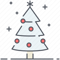 christmas tree, decoration, holiday, new year, tree, winter icon
