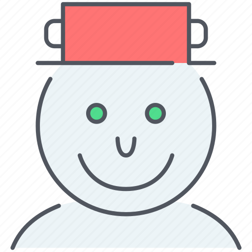 christmas, decoration, holiday, new year, snowman, winter icon
