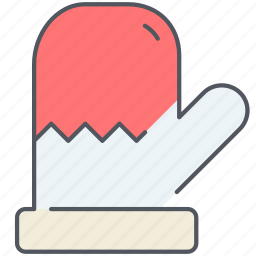christmas, glove, holiday, new year, snow, winter icon