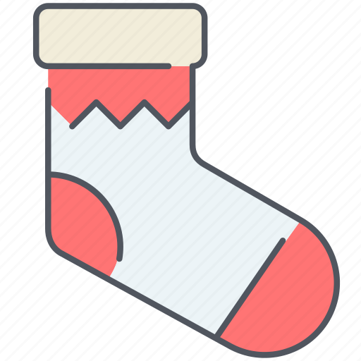 christmas, decoration, holiday, new year, sock, surprise, winter icon