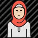 arabian, hijab, muslim, veil, woman icon
