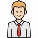 business, businessman, male, man, tie icon