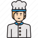 chef, cook, female, hat, woman icon