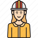 construction, engineer, female, woman icon