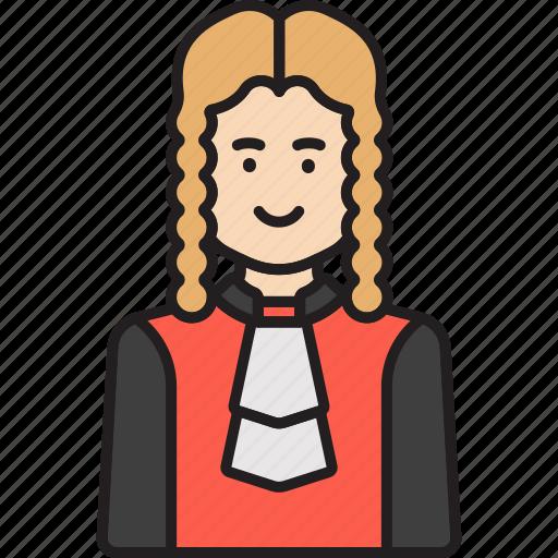court, judge, justice, law icon