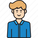 avatar, business, male, man, manager icon