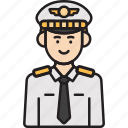 aviator, captain, inclusiveness, male, man, pilot icon