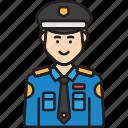 cop, male, man, police, policeman, uniform icon