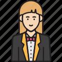 avatar, female, receptionist, service, woman icon