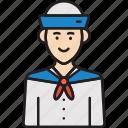 male, man, marine, sailor icon