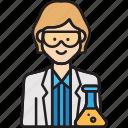 female, scientist, lab, professor, woman