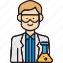 lab, male, man, professor, scientist icon