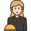 female, waiter, restaurant, waitress, woman