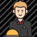 male, man, restaurant, waiter icon