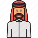 arabian, man, headdress, male, moustache, muslim icon