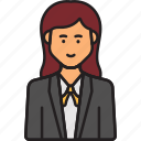 avatar, business, ceo, female, user, woman icon