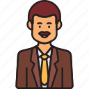 avatar, business, ceo, male, man, moustache icon
