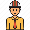 construction, engineer, helmet, male, man icon