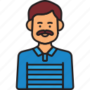father, avatar, dad, male, man, moustaches icon