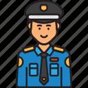 cop, man, police, policeman, uniform icon