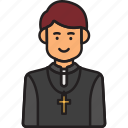 male, man, pastor, priest, religion icon