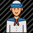 male, man, mariner, navy, sailor icon