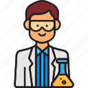 doctor, lab, male, man, scientist icon
