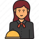 female, waiter, restaurant, service, waitress, woman