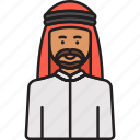 arabian, headdress, male, man, muslim icon
