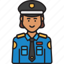cop, female, police, policewoman, uniform, woman icon