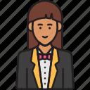 female, receptionist, avatar, professional, service, woman