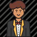 male, receptionist, avatar, man, professional, service