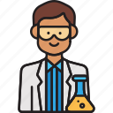 lab, male, man, professor, scientist icon