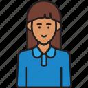 staff, female, user, woman, avatar