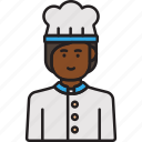chef, cook, female, food, hat, woman icon